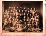 School photograph of Florence Cartland and other unidentified students, Smiths Falls, ca. 1888