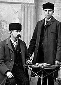 Studio photograph of Thomas Ferguson and Ted Gray, Smiths Falls