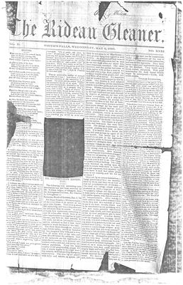 The Rideau Gleaner, 2 May 1860