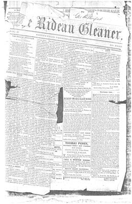 The Rideau Gleaner, 9 May 1860