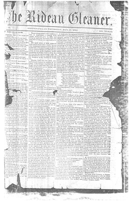 The Rideau Gleaner, 17 May 1860