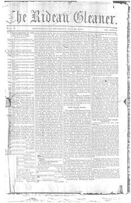 The Rideau Gleaner, 24 May 1860