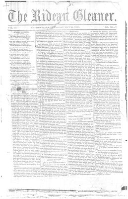 The Rideau Gleaner, 31 May 1860