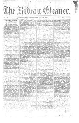The Rideau Gleaner, 6 June 1860