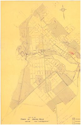 Plan of Smith's Falls, August 1958
