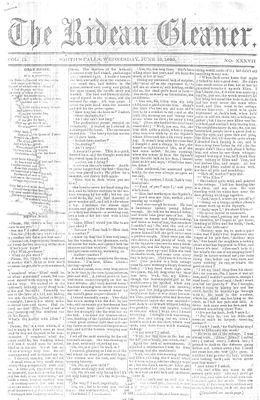 The Rideau Gleaner, 13 June 1860