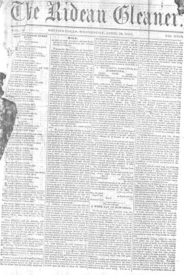 The Rideau Gleaner, 18 April 1860
