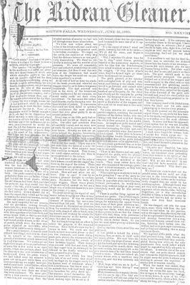 The Rideau Gleaner, 21 June 1860