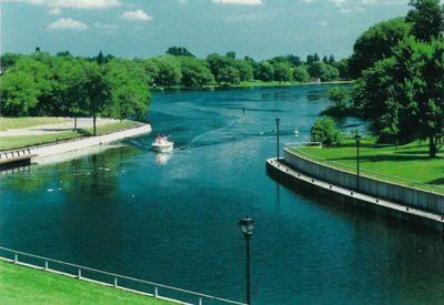 Rideau Canal, Smiths Falls postcard