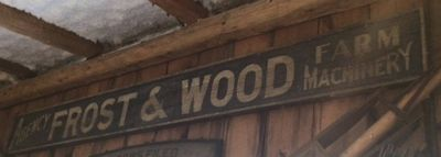 Frost & Wood business sign, Smiths Falls