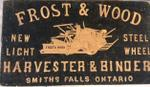 Frost & Wood sign, Smiths Falls