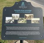 Beckwith Street and Bridge plaque, Smiths Falls