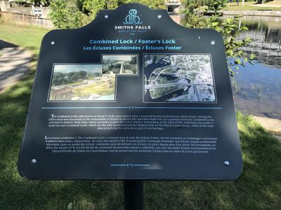 Old Combined Lock 28, 29 & 30 plaque, Smiths Falls