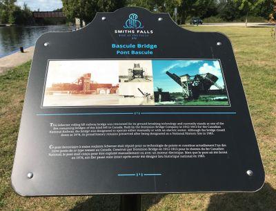 Bascule bridge plaque, Smiths Falls