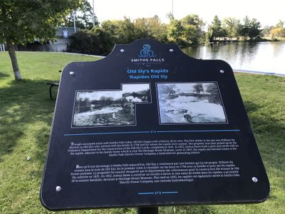 Old Sly's Rapids plaque, Smiths Falls