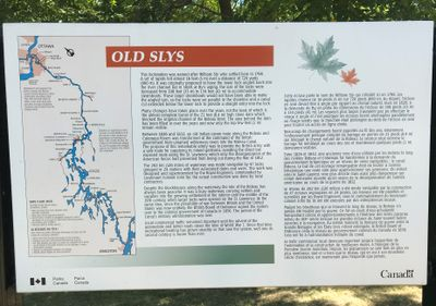 Old Slys' Park Canada plaque, Smiths Falls