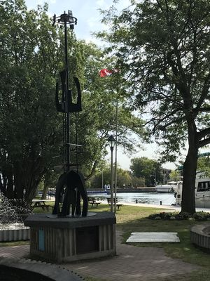 Growth by Pieter Doef, Centennial Fountain Plaza, Smiths Falls