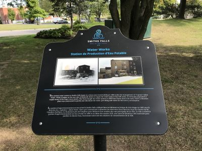 Water works plaque, Smiths Falls