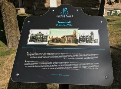 Town Hall plaque, Smiths Falls