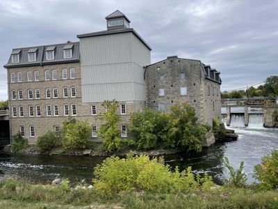 East Mill, Granary, West Mill, and Dam, Wood's Mill complex, Smiths Falls