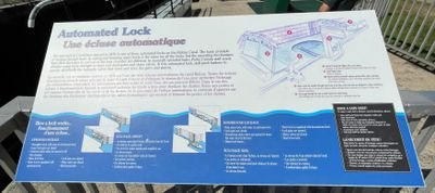 Combined Lock 29a signage, Smiths Falls