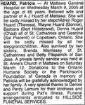 Nécrologie / Obituary Patricia Huard