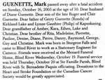 Nécrologie / Obituary Mark Guenette