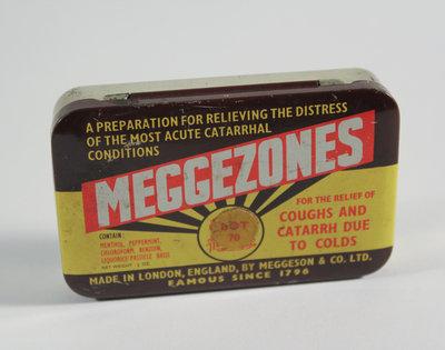 """""""Meggezones"""" Cough Lozenges Package"""