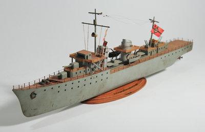 German War Ship Carving