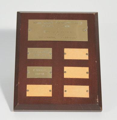 House League President's Shield Plaque