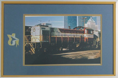 Framed Photograph of Engine 6539