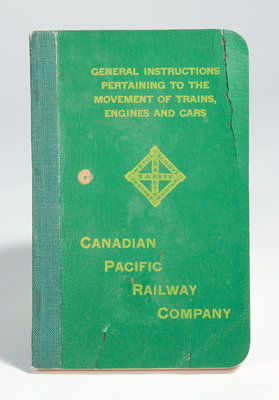 General Instruction Pertaining to the Movement of Trains, Engines and Cars Booklet