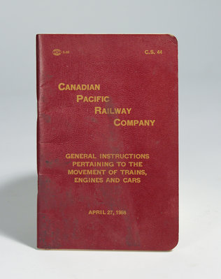 Red Canadian Pacific Railway Company Booklet