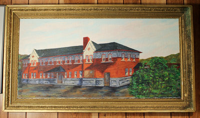 Painting of Canadian Pacific Railway Station in Schreiber
