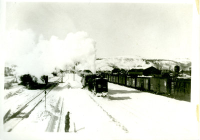 Winter Train Scene