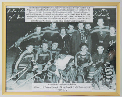 Schreiber Continuation School Hockey Team