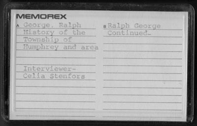 Ralph George Interview