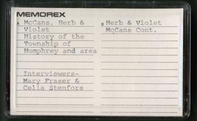 Herb & Violet McCans Interview
