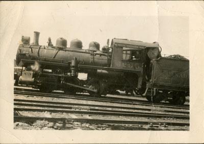 Stanley Hunziger in C.P.R. Locomotive 6296