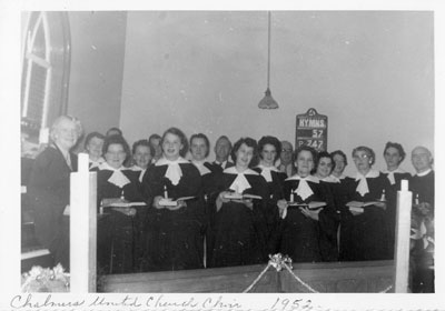 Chalmers United Church Choir, 1952