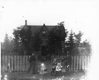 Family in Front of Homestead, circa 1900