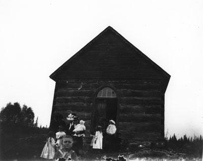 Evangelical United Brethren Church, South River Area (Lount township), circa 1890