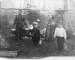 William Snow and Family Making Maple Syrup