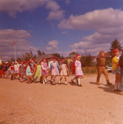 School Children Parading, South River Agricultural Society Fall Fair, circa 1970