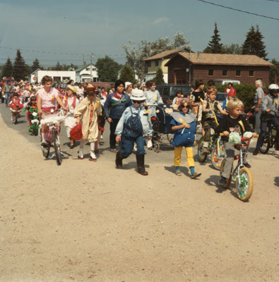 Children Dressed in Costumes, South River Agricultural Society Fall Fair Parade, 1984