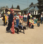 Procession of Clown, South River Agricultural Society Fall Fair Parade, 1984
