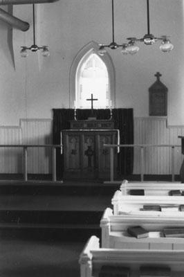Altar of the St. John's Anglican Church at Eagle Lake