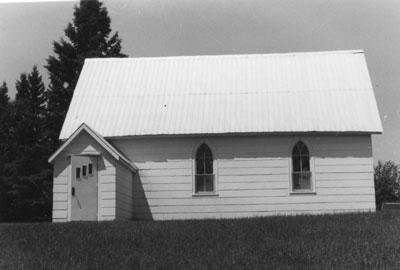 Exterior of St. John's Anglican Church at Eagle Lake