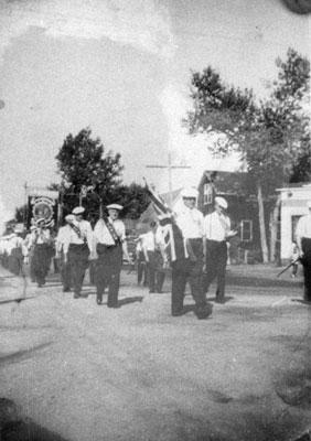 Loyal Orange Lodge Members in South River Parade, 1939