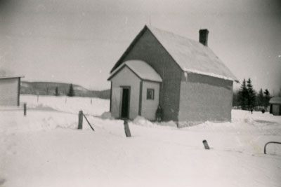 Schoolhouse, School Section Number 1 (Laurier), South River, 1951.